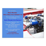 "Engine Masculine Birthday Party Invitation 5"" X 7"" Invitation Card"
