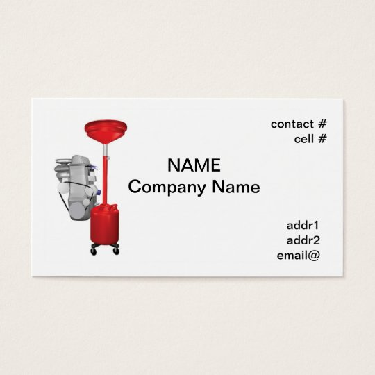 engine oil change business card