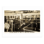Engine Room on the S.S. Greater Detroit - D&C Line Postcard