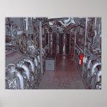 ENGINE ROOM USS BOWFIN SUBMARINE - HAWAII PRINT