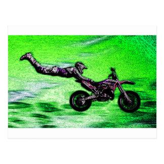 Engine stunt man postcard