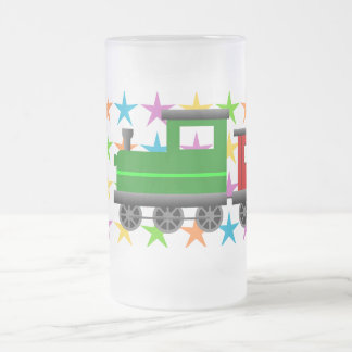 engine train caboose Grandson son track Engineer Frosted Glass Beer Mug