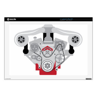 "Engine Twin Turbo Vector 17"" Laptop Skins"