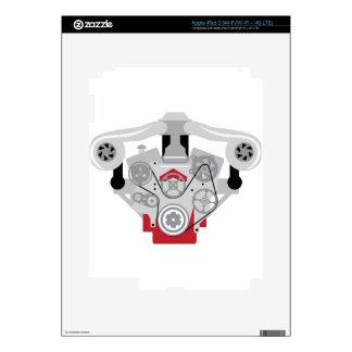 Engine Twin Turbo Vector iPad 3 Decal