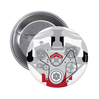 Engine Twin Turbo Vector Pinback Button
