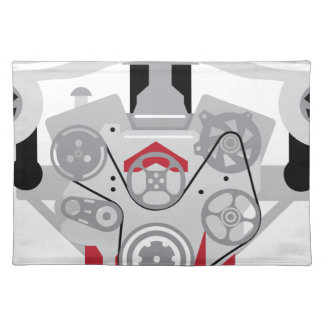 Engine Twin Turbo Vector Placemat