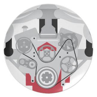 Engine Twin Turbo Vector Plate