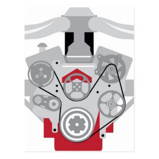 Engine Twin Turbo Vector Postcard