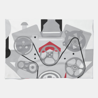 Engine Twin Turbo Vector Towel