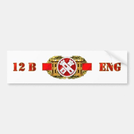 ENGINEER 12B 16TH EN BDE CAR BUMPER STICKER