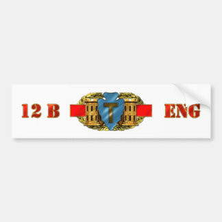 ENGINEER 12B 36th Infantry Division Car Bumper Sticker