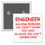 ENGINEER 2 INCH SQUARE BUTTON