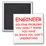 ENGINEER 2 INCH SQUARE MAGNET