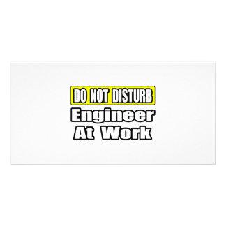 Engineer At Work Photo Card