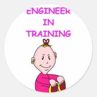 ENGINEER baby Classic Round Sticker