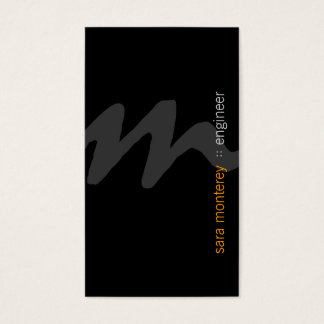 Engineer BoldScript Monogram BusinessCard Business Card