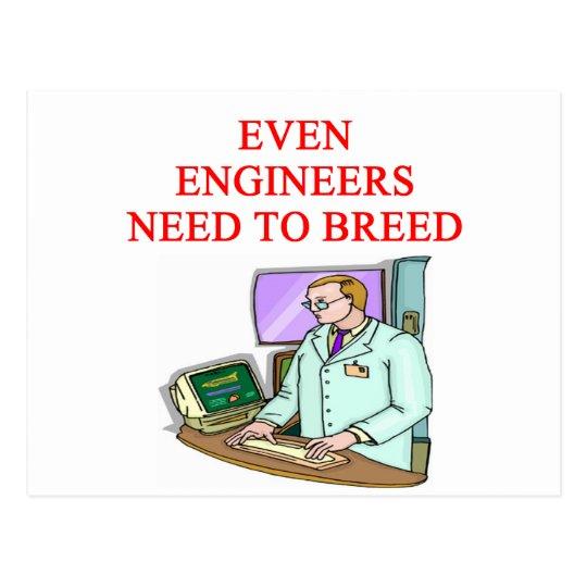 ENGINEER breeding Postcard