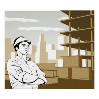 Engineer Builder Architect Poster
