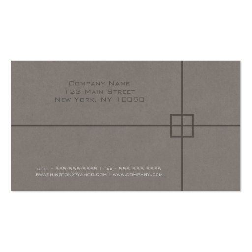 Engineer Business Card Template (back side)
