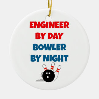 Engineer by Day Bowler by Night Christmas Tree Ornaments