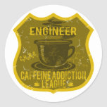 Engineer Caffeine Addiction League Classic Round Sticker