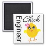 Engineer Chick Refrigerator Magnets