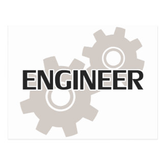 Engineer Clockwork Gears Postcard