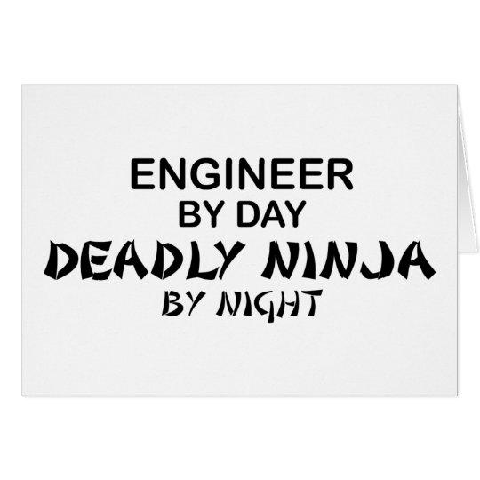 Engineer Deadly Ninja by Night Card