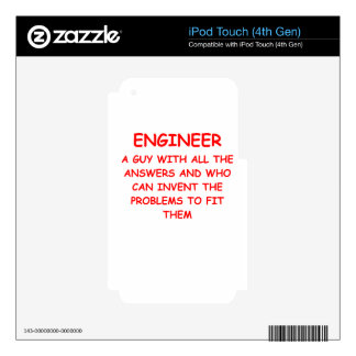 ENGINEER DECAL FOR iPod TOUCH 4G