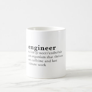 Engineer - Dictionary definition Coffee Mug