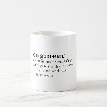 Coffee Themed Engineer - Dictionary definition Coffee Mug
