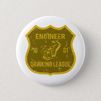 Engineer Drinking League Button
