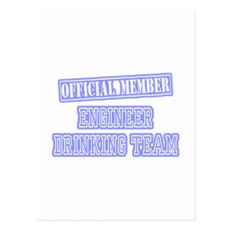 Engineer Drinking Team Postcard
