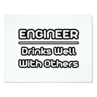 Engineer...Drinks Well With Others Personalized Invites