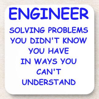 engineer engineering beverage coaster