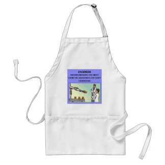 engineer engineering joke adult apron