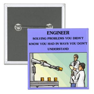 engineer engineering joke pinback button