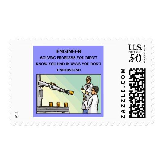 engineer engineering joke postage