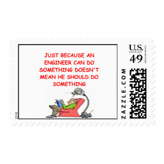 engineer engineering joke postage stamps