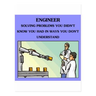 engineer engineering joke postcard