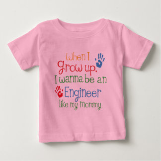 Engineer (Future) Like My Mommy Baby T-Shirt