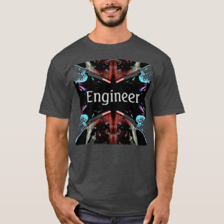 Engineer Geek Cool Nerd Tshirt 5 by CricketDiane