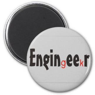 "Engineer ""Geek"" funny gifts Fridge Magnets"