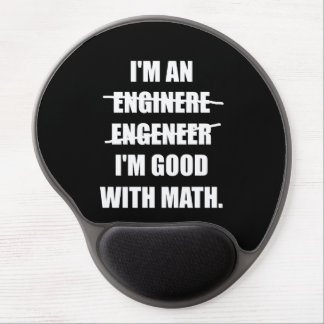 Engineer Good With Math Gel Mouse Pad