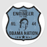 Engineer Obama Nation Classic Round Sticker