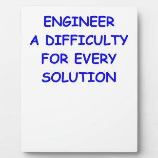 engineer display plaque