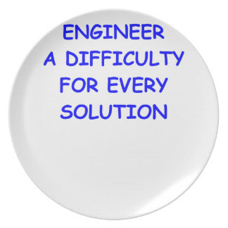 engineer party plates