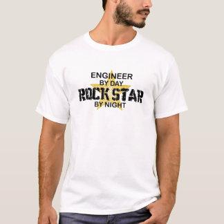 Engineer Rock Star by Night T-Shirt
