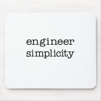 Engineer Simplicity Mouse Pads