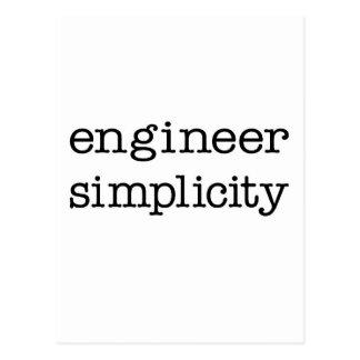Engineer Simplicity Postcard
